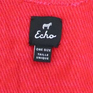 Echo Design Sweaters - Echo Design Red Boucle Ruana Wrap